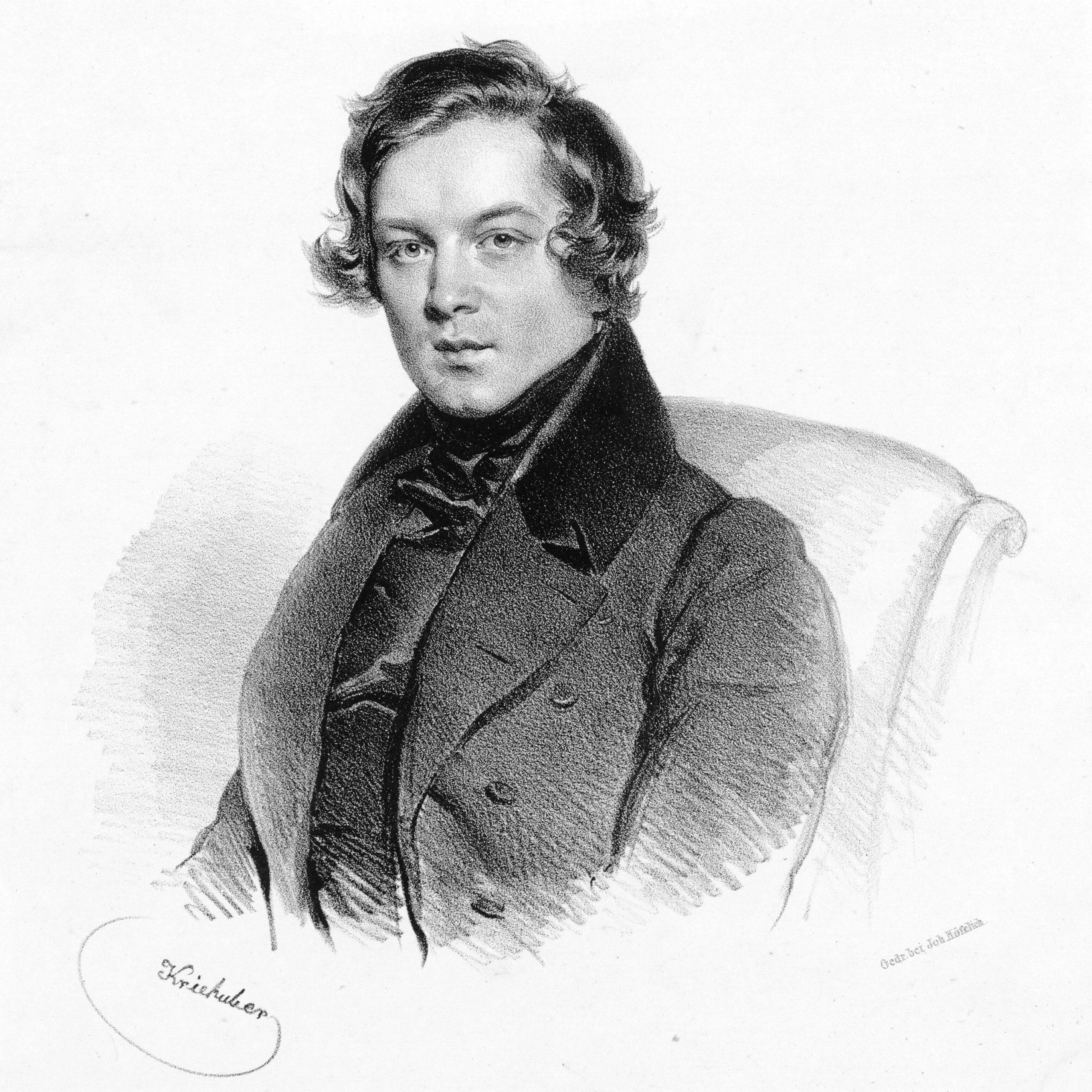 A portrait of the composer Robert Schumann